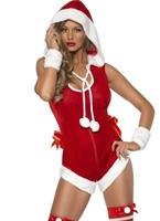Fièvre Hot Stuff Santa Costume Costume Mère Noël
