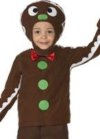 Petit Costume de l'homme de gingembre Costume Noël pour enfant