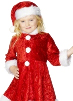 Costume de mini Miss Santa velours Costume Noël pour enfant