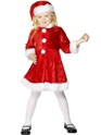 Costume Noël pour enfant Costume de mini Miss Santa velours