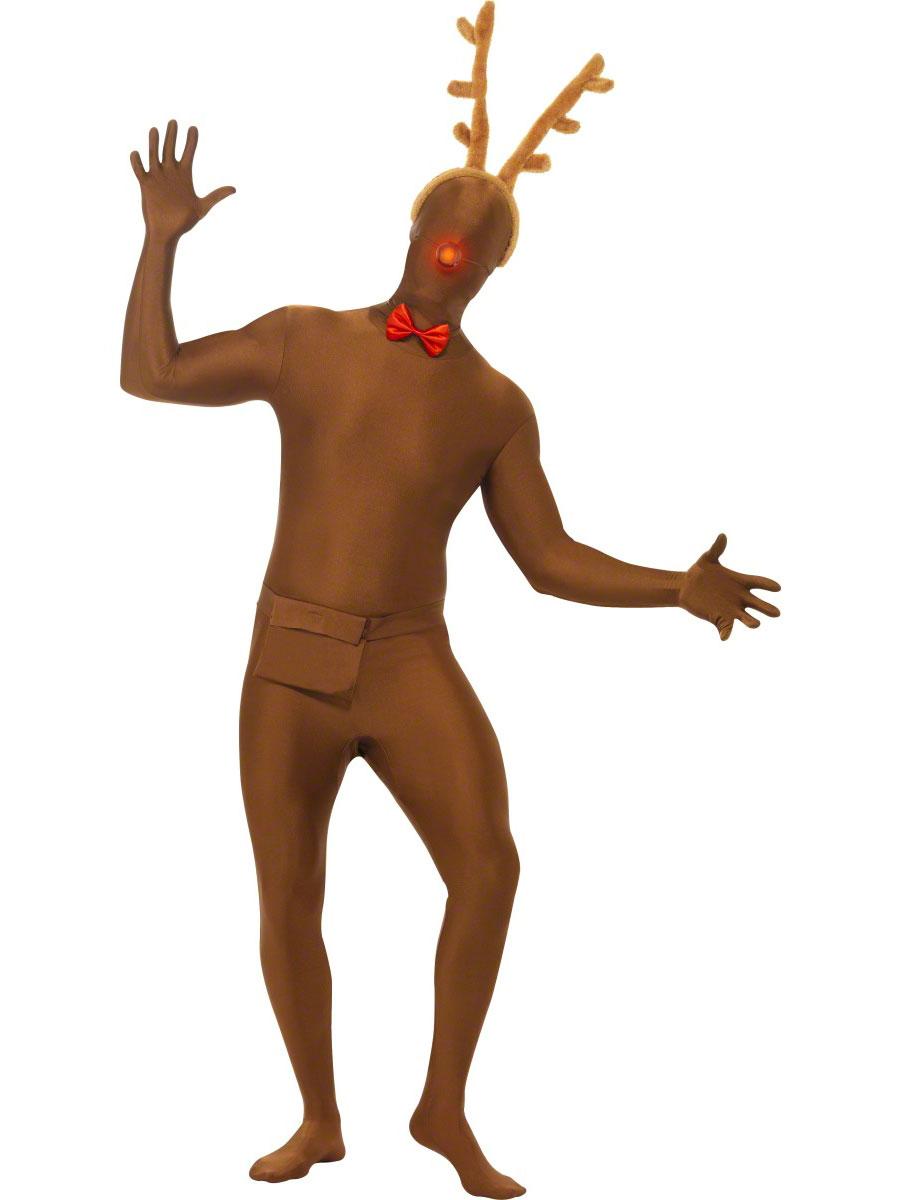 Nouveaux Costume de Noël Renne seconde peau Costume