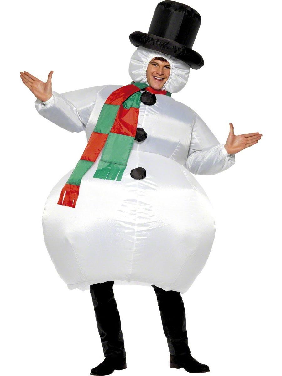 Nouveaux Costume de Noël Costume bonhomme de neige gonflable