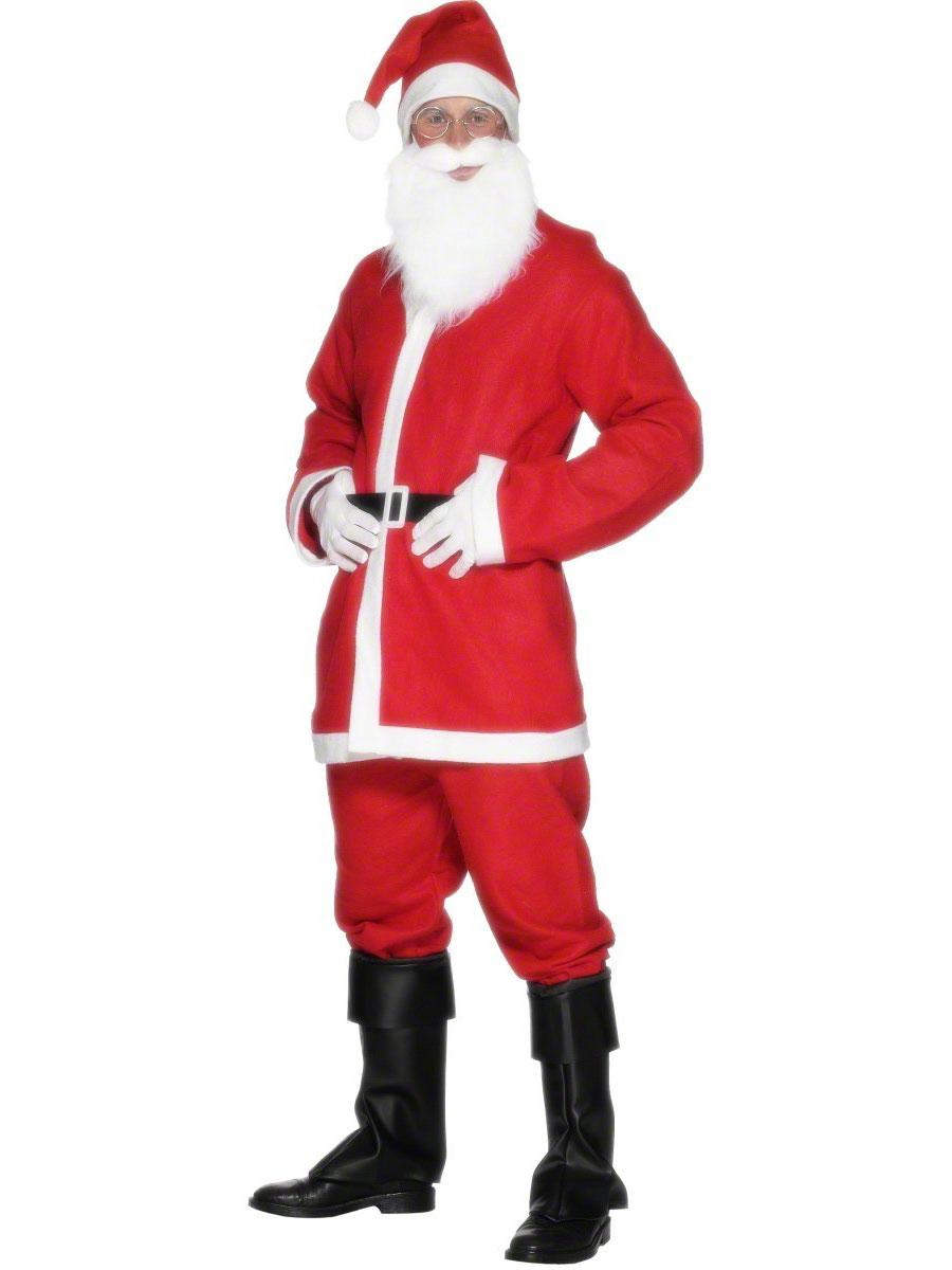 Père Noel Sportif Aubaine Santa Costume
