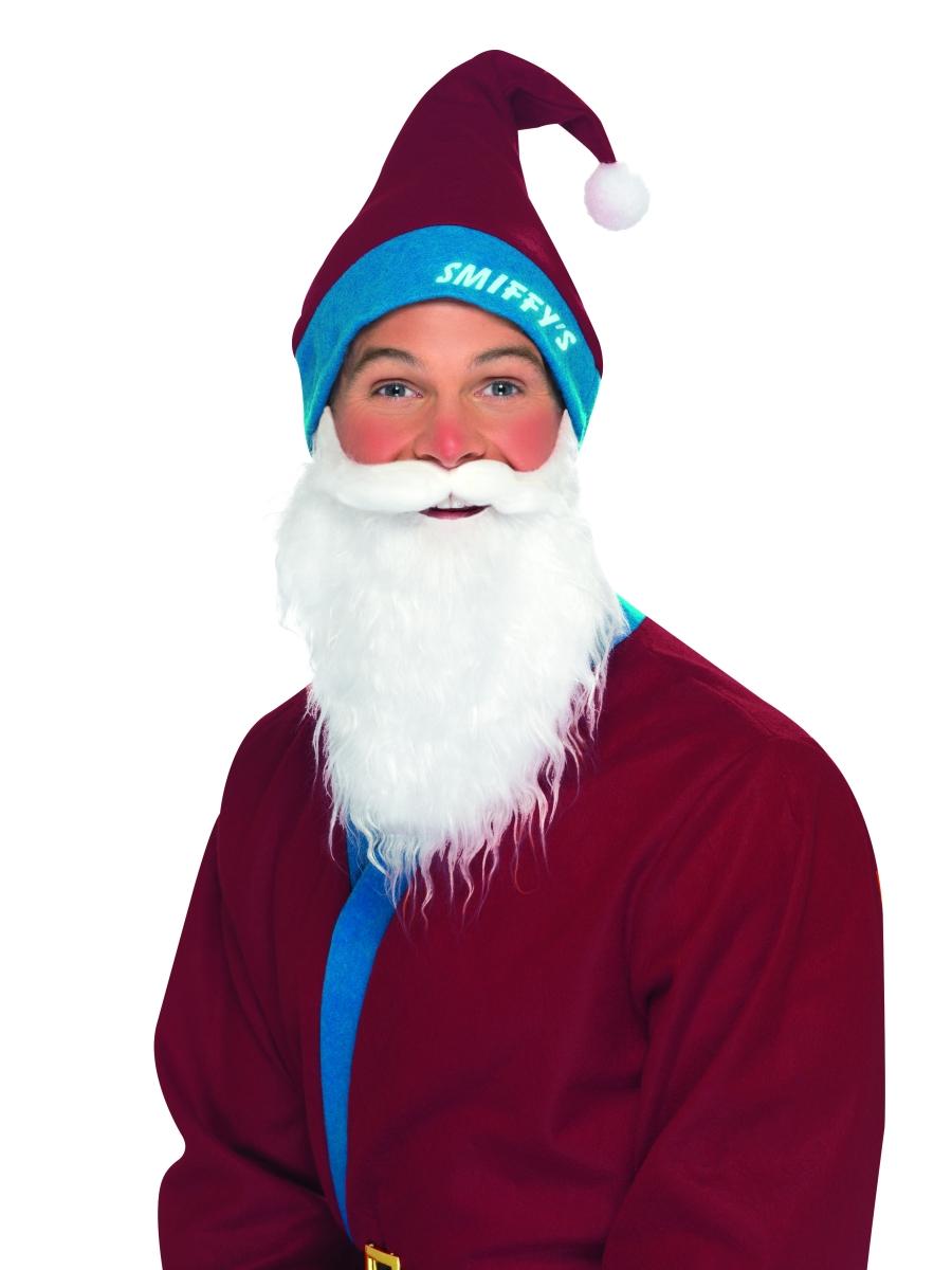 Père Noel Sportif Chapeau Bordeaux & Set barbe