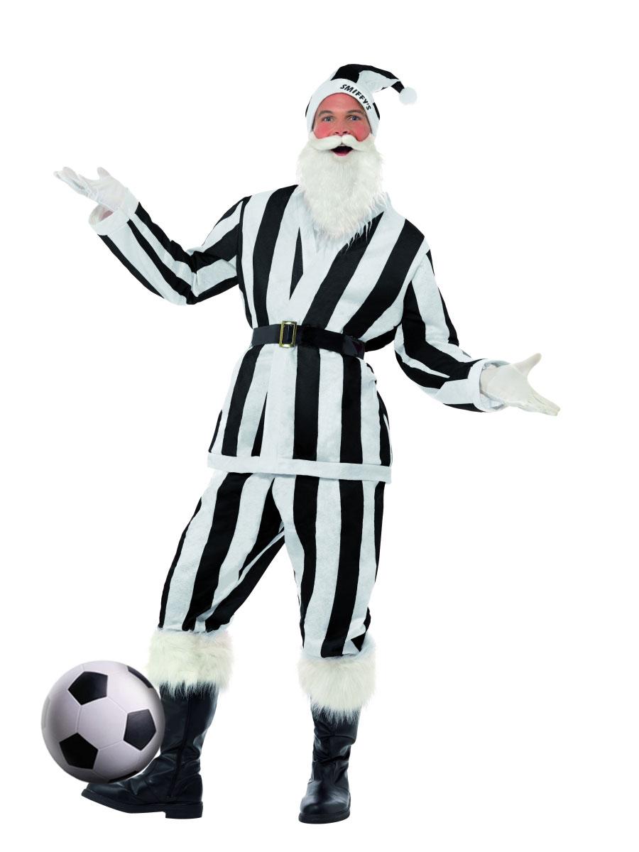 Père Noel Sportif Costume de Santa de Sport noir & blanc rayé