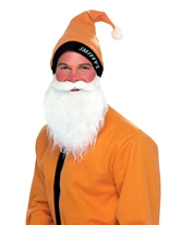Chapeau or & Set barbe Père Noel Sportif
