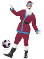 Costume de Santa de Sport Bordeaux Père Noel Sportif