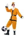 Père Noel Sportif Costume de Santa de Sport or