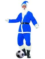 Costume de Santa de Sport bleu royal Père Noel Sportif