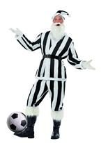 Costume de Santa de Sport noir & blanc rayé Père Noel Sportif