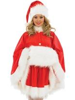 Costume de Cap Santa Mesdames Santa Claus Costumes