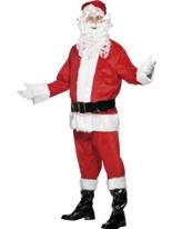 Santa Costume rouge velours blanc Santa Claus Costumes
