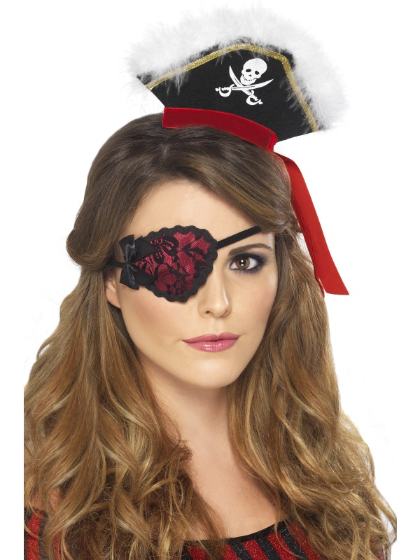 Accessoire de Pirate Dentelle Pirate Eyepatch
