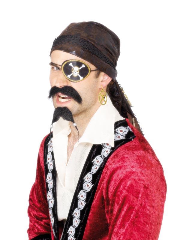 Accessoire de Pirate Boucle d'oreille et cache-oeil pirates