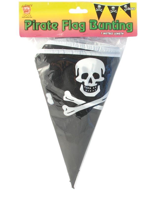 Accessoire de Pirate Drapeau de Pirate en forme de triangle Bunting