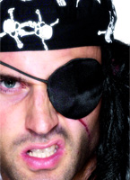 Pirate Eye Patch noir Accessoire de Pirate