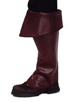 Couvre-bottes marron prime Pirate Accessoire de Pirate