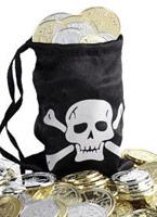 Sac de pièce de monnaie de pirates Accessoire de Pirate