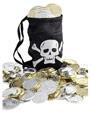 Accessoire de Pirate Sac de pièce de monnaie de pirates