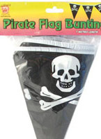 Drapeau de Pirate en forme de triangle Bunting Accessoire de Pirate