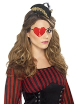 Coeur de pirate en forme de bandeau sur le ?il Accessoire de Pirate