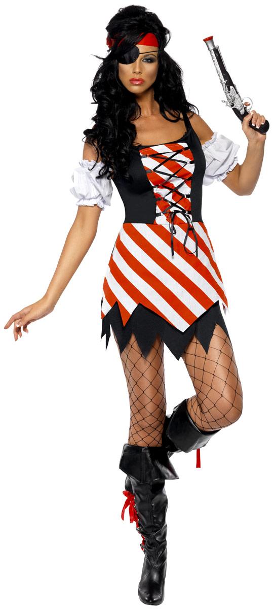 Costume de Pirate adulte Pirate Costume rouge blanc noir