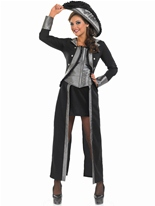 Costume de fille de Pirate noir Costume de Pirate adulte