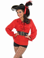 Chemise Pirate rouge Costume de Pirate adulte