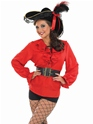 Costume de Pirate adulte Chemise Pirate rouge
