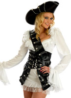 Costume de Pirate de Cape et d'épée Babe Costume de Pirate adulte