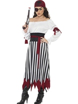 Costume Robe Lady pirate Costume de Pirate adulte