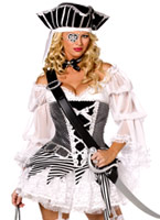Fièvre Boutique 5 pièces Costume Pirate Costume de Pirate adulte