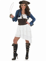 Ra Ra Pirate Girl Costume Costume de Pirate adulte