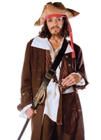Luxe Costume de Captain Jack Costume de Pirate adulte