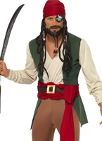 Costume de Pirate des Caraïbes ivre Costume de Pirate adulte