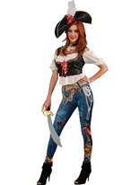Mesdames Booty Costume de Pirate Costume de Pirate adulte