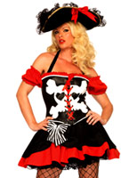Costume de Pirate Treasure Island tentatrice Costume de Pirate adulte