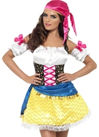 Costume Glam de fièvre tsigane Costume de Pirate adulte