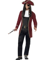 Costume capitaine pirate Costume de Pirate adulte