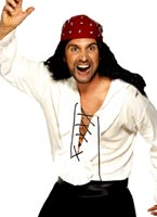 Lace-Up Pirates Shirt blanc Crinoline Costume de Pirate adulte