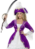 Costume de Pirate Purple Beauty Costume de Pirate adulte