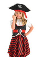 Costume de Pirate pour enfants fille Costume de Pirate Enfant