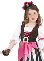 Costume de Pirate rose fille Childrens Costume de Pirate Enfant