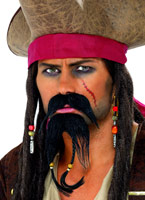 Set de pirate les poils du visage Perruque de Pirate