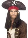 Perruque de Pirate Chapeau de pirate avec des tresses