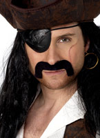Droopy Pirate Tash noir Perruque de Pirate
