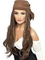 Perruque de Pirate Perruque brune Pirate avec Bandana