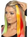 Accessoire Années 80 Cheveux Extensions Neon Orange