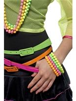 Bracelets de perles de néon Accessoire Années 80