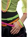 Accessoire Années 80 Bracelets de perles de néon